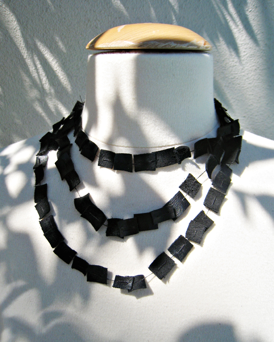 Leather wrap necklace DIY