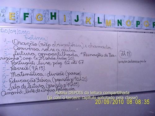 Rotina corrigida (com o 3º capítulo de Reinações de Narizinho) - 20/09/2010.