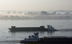 Barges in the Fog