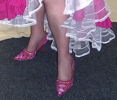 Me, Pink shoes, white petticoat. (Sugarbarre2) Tags: show wedding woman usa baby white girl beautiful fashion self vintage mom photo cool nikon babe wife