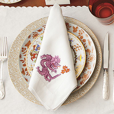 Heirloom Linens Table Setting