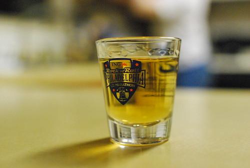 Rock 'n' Roll Philadelphia Half Marathon Shotglass with Jameson's