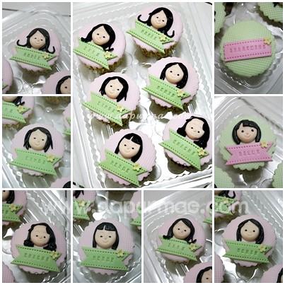 Nonik's 2D Face Cupcakes