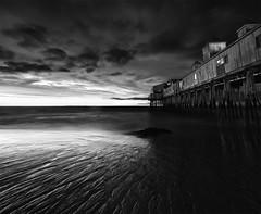 OOB Vertorama (moe chen) Tags: ocean old white seascape black beach rock clouds sunrise landscape dawn pier sand maine sigma orchard moe ripples 1020mm chen