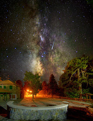 (CostaDinos) Tags: trees sky mountain night forest dark way square stars star long exposure cyprus falling galaxy nebula astrophotography milky meteor milkyway troodos troodossquare