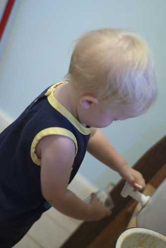 water and a 16 month-old3
