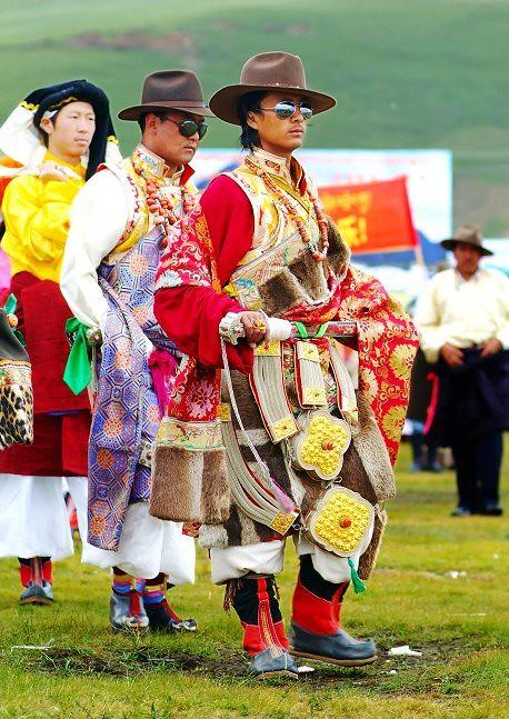 Khampa Guys in Lithang Fashion Parade