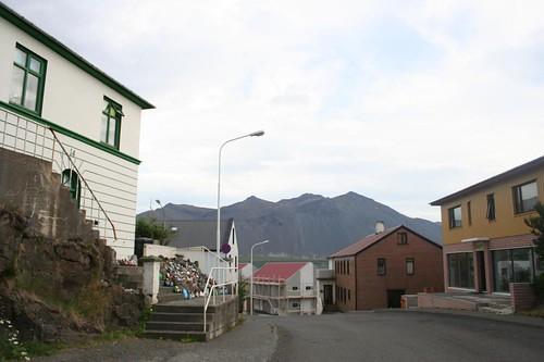 Vila de Borgarnes na Islândia