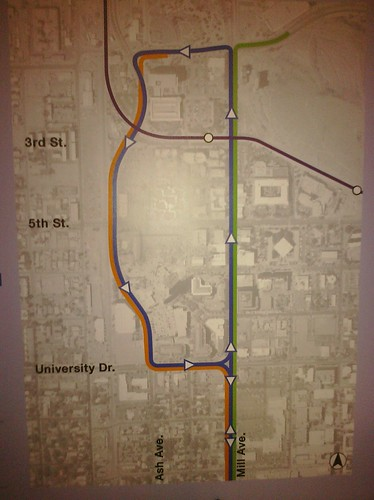 Proposed loop for modern streetcar on Mill