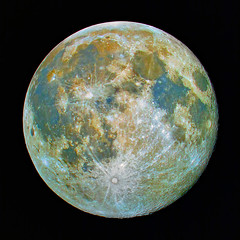 The Moon (saturation enhanced natural color) (J.R.Photography) Tags: moon canon astro telescope astrophotography 7d lunar meade naturalcolor twtmeiconoftheday