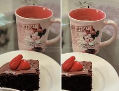 (NOURA - alshaya ♔) Tags: cup breakfast mouse strawberry mickey nutella كيك كوب نوتيلا فطور كوفي نوره نوني فراوله ماوس شاهي ميكي نويروا