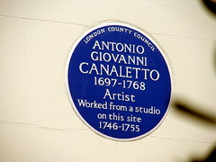 Photo of Antonio Canal blue plaque