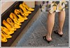 Come and walk in our Yellow World (RossaMalPelo) Tags: yellow donna women shoes legs giallo scarpe gambe veterinarifotografi