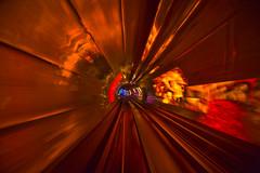 [フリー画像] グラフィックス, フォトアート, トンネル, レッド, 201010010100