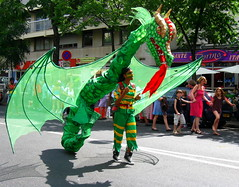 Dragon (Py All) Tags: street carnival paris france green costume europe fiesta dragon wing vert tropical carnaval fte rue aile dguisement 75011   tropicalcarnival carnavaltropical