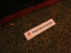 Please Keep Off the Grass (fireflythegreat) Tags: sign indoors grandrapids 2010 pleasekeepoffthegrass artprize installedart artprize2010