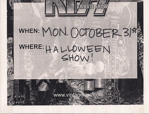 10/31/05 Vintage Kiss Tribute Band @ Star Central, Columbia Heights, MN (Poster - Bottom)