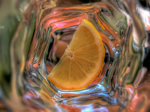 lemon in the glass