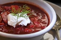 borscht served