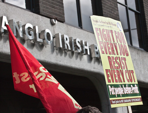 Irish demo against the cuts, 2010