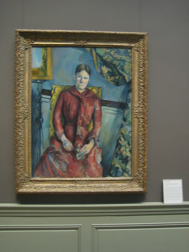 Madame Cézanne (née Hortense Fiquet, 1850–1922) in a Red Dress, 1888-90, Paul Cézanne _8400