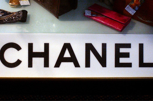vintage chanel display case