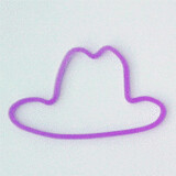 Shaped rubber bands: hat purple