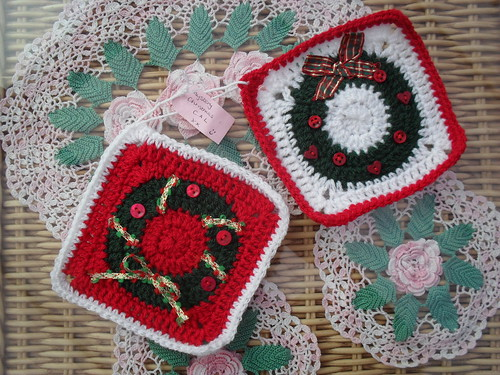 Manda's challenges! Your Squares have arrived! Thank You! 'Christmas Challenge' Beautiful!