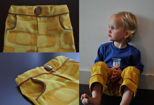 Seventies curtain fabric pants