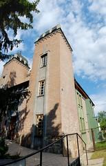 Former Rkoshegy Synagogue (1) (Istvan) Tags: hungary budapest verticalstitch formersynagogue rkoshegy parayutca baptistprayerhouse