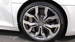 Ceramic Brakes...Massive Ceramic Brakes (Jeff Kimble) Tags: park city white car wheel vw germany volkswagen ceramic deutschland big cool seat awesome convertible tire spyder porsche massive huge theme brakes brake rim audi wolfsburg autostadt lambourghini polished skoda r8 highperformance