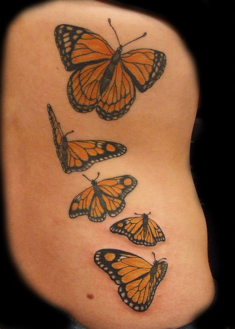 Monarch Butterfly Tattoo 3 Session (Inspired on Shannon Archuleta Design)