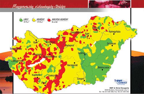 magyarország vízkeménység térkép Víz tulajdonságai   mit is tartalmaz a csapvíz magyarország vízkeménység térkép