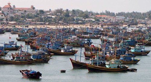 Mui Ne - Fishing Village - Boats In Bay