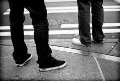 Shoes and Lines (Greg Nissen) Tags: seattle street leica blue brown digital photography 50mm washington greg with natural voigtlander 206 nat rangefinder cameras m8 physics wa pikes hip hop rap rappers scholars f11 nokton thig prometheus nissen geologic mmount thignat