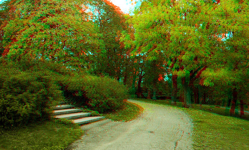 Turku in stereo anaglyph
