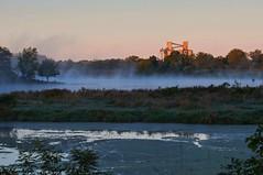 Sunrise in Nebraska (Jim McConnell) Tags: landscape pond nikon nebraska elevator steam coop firth d90
