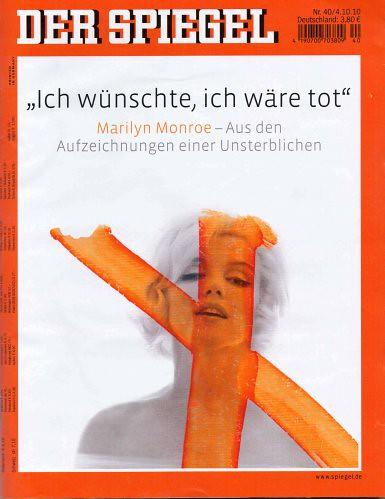10j04 Der Spiegel Marilyn Monroe