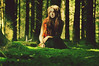 absorb the forest [Explore] (laura zalenga) Tags: light woman tree green nature girl forest hair paper swan sitting dress calm enjoying homesick absorb zalenga ©laurazalenga