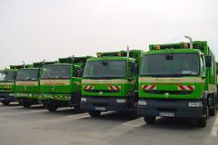 Ordures ménégères - Camions de collecte du SMICTOM