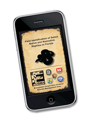 The University of Georgia's Center for Invasive Species and Ecosystem Health has developed an iPhone app, called IveGot1, to help identify native and non-native reptiles in Florida.