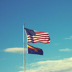 Fly the flag (Mr. Moog) Tags: blue arizona sky cloud phoenix america flag