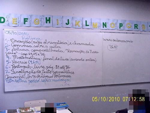 Rotina Prevista - e parcialmente cumprida (05/10/2010)