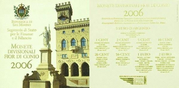 Oficiálna sada 1 cent - 5 euro San Marino 2006