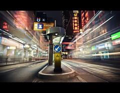Des Voeux Road Central, Hong Kong (d.r.i.p.) Tags: china road longexposure light night hongkong lights central tram des hong kong drip explore hkg voeux 14mm desvoeuxroad desvoeuxroadcentral 1424mm 1424mm28