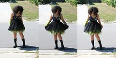 r08 (Apt To Wander) Tags: portrait black green punk dress braces boots little afro 14 grade sparkle teen cast jewish fedora eyeshadow doc 8th tutu martens reisa