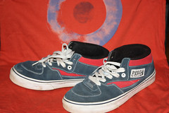 Vans Half Cab - Red and Blue