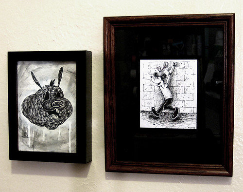 2 newer pieces framed