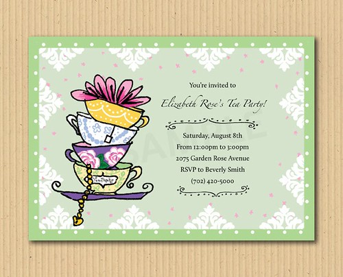 Let's have a tea party - DIY Printables