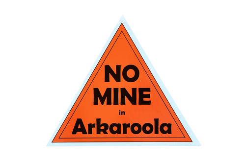 grab yourself a wilderness society 'no mine in arkaroola' sticker - see details below